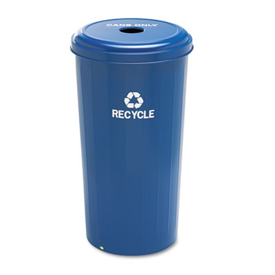 Tall Recycling Receptacle for Cans, Round, Steel, 20gal, Recycli