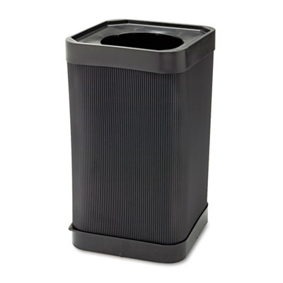 At-Your Disposal Top-Open Waste Receptacle, Square, Polyethylene