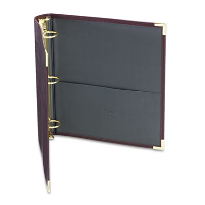 "Classic Collection Ring Binder Portfolio, 11 x 8-1/2, 1-1/2"" Cap"