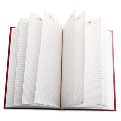 Hardbound Standard Diary, Ruled, One Day/Page, 8 3/16 x 13 7/16