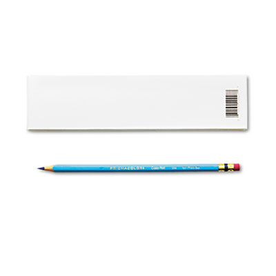 Col-Erase Pencil w/Eraser, Non-Photo Blue Lead/Barrel, Dozen