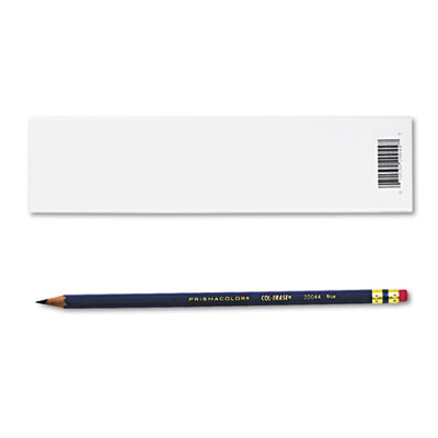 Col-Erase Pencil w/Eraser, Blue Lead, Blue Barrel, Dozen