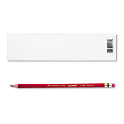 Col-Erase Pencil w/Eraser, Carmine Red Lead/Barrel, Dozen