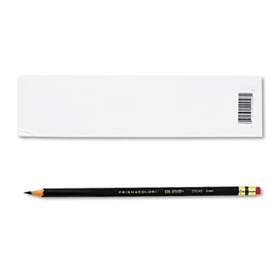 Col-Erase Pencil w/Eraser, Green Lead, Green Barrel, Dozen