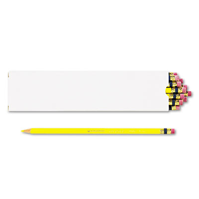 Col-Erase Pencil w/Eraser, Yellow Lead, Yellow Barrel, Dozen