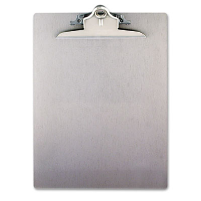 "Aluminum Clipboard w/High-Capacity Clip, 1"" Capacity, Holds 8 1/"