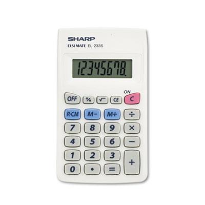 EL233SB Pocket Calculator, 8-Digit LCD<br />91-SHR-EL233SB