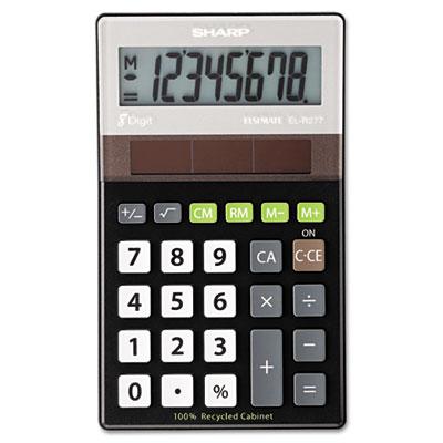 EL-R277BBK Recycled Series Handheld Calculator, 8-Digit LCD<br />91-SHR-ELR277BBK