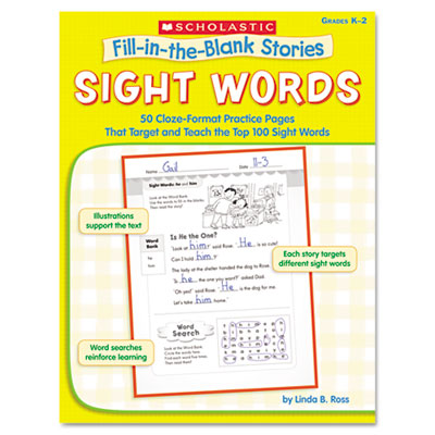 Fill-in-the-Blank Stories, Sight Words, Grades K-2, 64 Pages