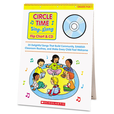 Circle Time Sing Along Flip Chart with CD, Grades PreK-1, 26 Pag