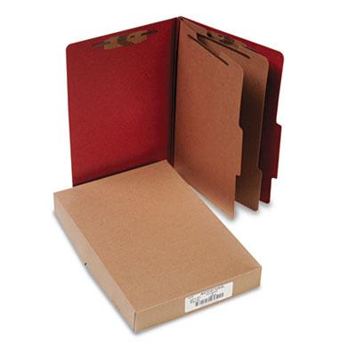 Pressboard 25-Pt. Classification Folder, Legal, Six-Section, Ear