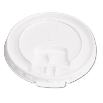 Lift Back & Lock Tab Cup Lids for Foam Cups, For SLOX8J, White,