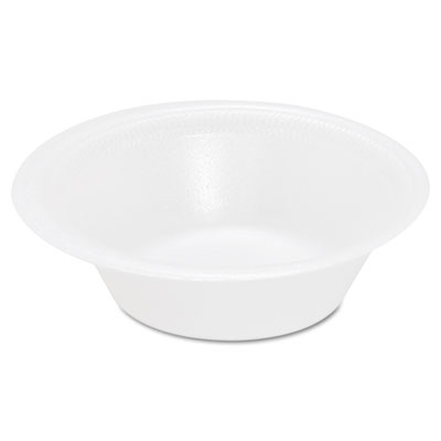 Basix Foam Bowl, 12oz, White, 125/Pack, 8 Packs/Carton