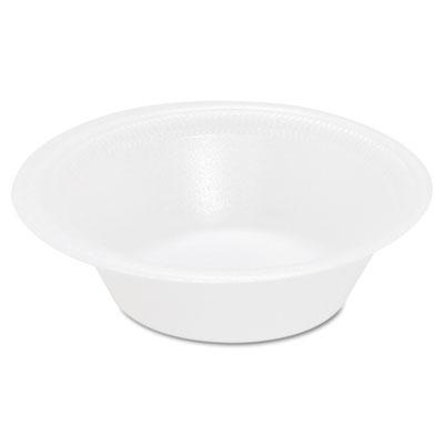 Basix Foam Bowl, 12oz, White, 125/Pack, 8 Packs/Carton