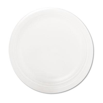 "Mediumweight Foam Dinnerware, Plates, 6"" dia, White, 1000/Carton"