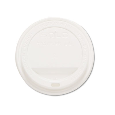 Traveler Drink-Thru Lids, White, 1000/Carton
