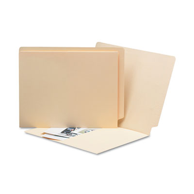 Antimicrobial Pocket Folders, Straight Tab, Letter, Manila, 50/B