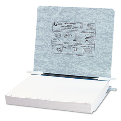 Pressboard Hanging Data Binder, 11 x 8-1/2 Unburst Sheets, Light
