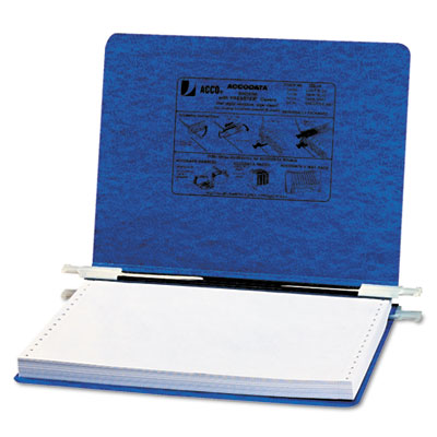Pressboard Hanging Data Binder, 12 x 8-1/2 Unburst Sheets, Dark