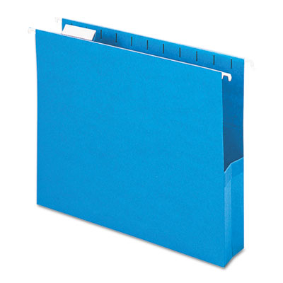 "2"" Capacity Closed Side Flexible Hanging File Pockets, Letter, S"