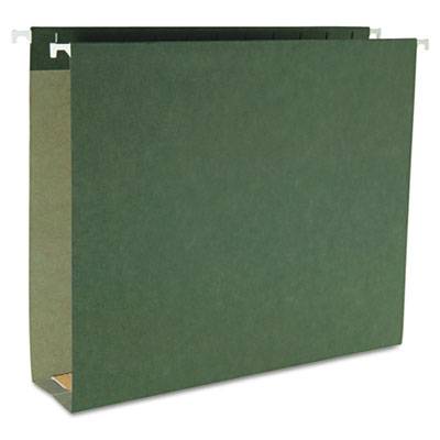"2"" Capacity Box Bottom Hanging File Folders, Letter, Green, 25/B"