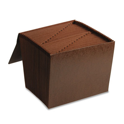 1-31 Accordion Expanding Files, 31 Pocket, Letter, Leather-Like