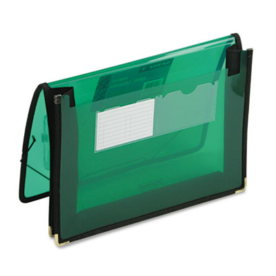 2 1/4 Inch Accordion Expansion Wallet, Poly, Letter, Translucent