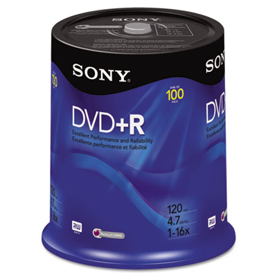 DVD+R Discs, 4.7GB, 16x