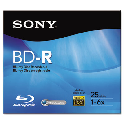 BD-R Recordable Disc, 25GB, 2x