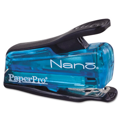 Nano Miniature Stapler, 12-Sheet Capacity, Translucent Blue