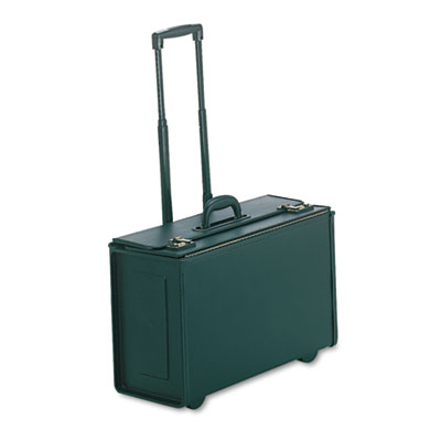 Tufide Wheeled Catalog Case, Vinyl, 22-1/4 x 13-1/2, Black