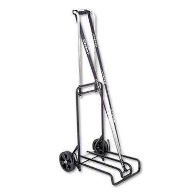 Luggage Cart, 250lb Capacity, 12 1/4 x 13 Surface, Black/Chrome