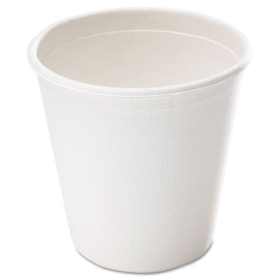 Bagasse Cup, 12oz, White, 50/Pack