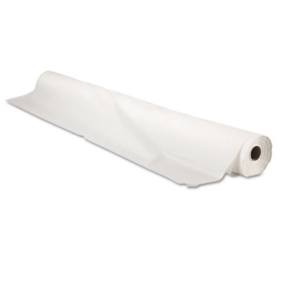 "Bio-Degradable Plastic Table Cover, 40"" x 300ft, White"