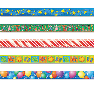Border Trim Variety Pack, 3 x 35 Panels, Assorted Designs, 60/Se