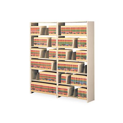 Snap-Together Seven-Shelf Closed Add-On Unit, Steel, 48w x 12d x