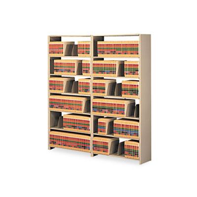 Snap-Together Seven-Shelf Closed Add-On Unit, Steel, 36w x 12d x