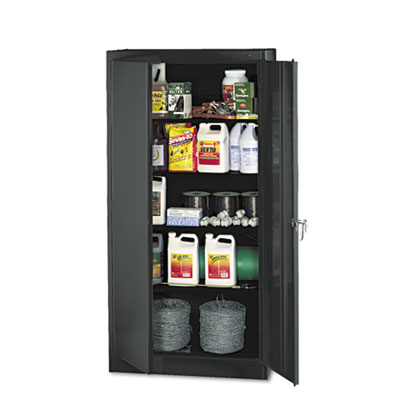 "72"" High Standard Cabinet, 36w x 18d x 72h, Black"