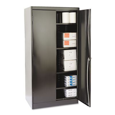 "72"" High Standard Cabinet, 36w x 24d x 72h, Black"