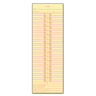Time Card for Cincinnati/Lathem/Simplex/Acroprint, Semi-Monthly,