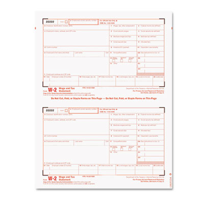 Tax Forms/W-2 Tax Forms Kit with 24 Forms, 24 Envelopes, 1 Form