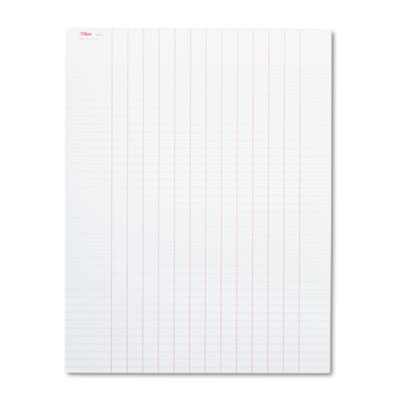 Data Pad w/Plain Column Headings, 8-1/2 x 11, White, 50 Sheets