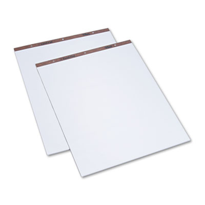 Easel Pads, Unruled, 27 x 34, White, 50-Sheet Pads, 2 Pads/Carto