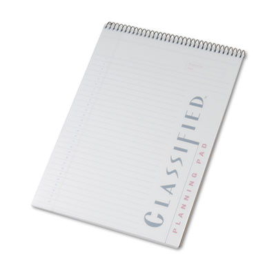 Classified Colors Notebook w/White Cover, Lgl Rule, Ltr, Orchid,