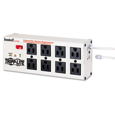 Isobar Metal Surge Suppressor, 8 Outlets, 12 ft Cord, 3840 Joule