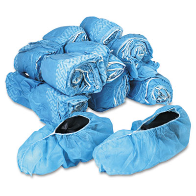 Disposable Shoe Covers, Nonwoven Polypropylene, Blue, 150 Pairs/