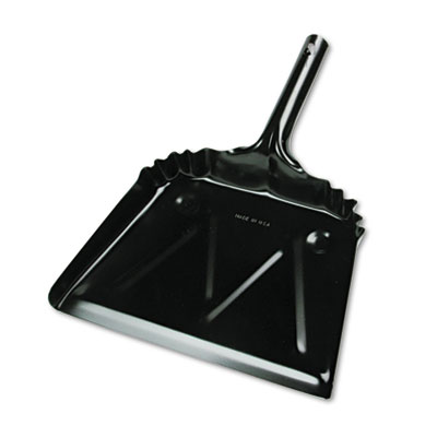 "Metal Dustpan, 12"" Width, Black"