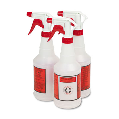Plastic Sprayer Bottles, 24oz, 3/Pack