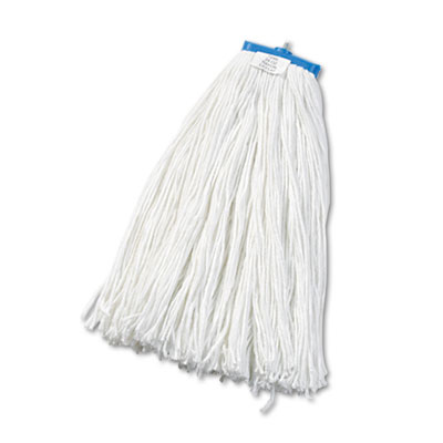 Cut-End Lie-Flat Wet Mop Head, Rayon, 24oz, White