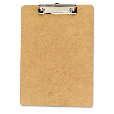 "Clipboard, 1/2"" Capacity, Holds 8-1/2w x 12h, Brown, 6/Pack"
